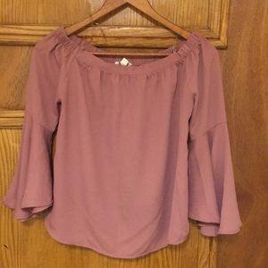 Juniors Bell Sleeve blouse